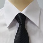 Prestige Diffusion - Cravate Rayée Ton Sur Ton - Noir