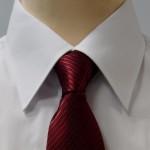 Prestige Diffusion - Cravate Rayée Ton Sur Ton - Bordeaux
