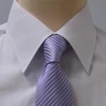 Prestige Diffusion - Cravate Rayée Ton Sur Ton - Lilas
