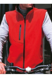 Prestige Diffusion - Gilet Softshell Sans Manches - Rouge