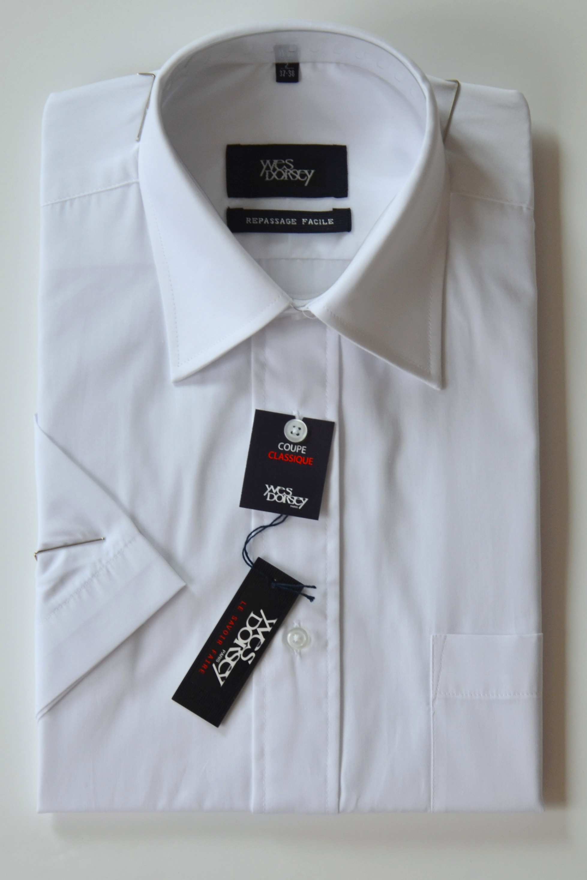 Prestige diffusion chemise repassage facile manches - Chemise coupe droite homme ...