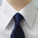 Prestige Diffusion - Cravate Rayée Ton Sur Ton - Marine
