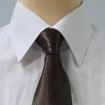 Prestige Diffusion - Cravate Rayée Ton Sur Ton - Chocolat
