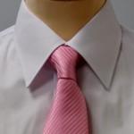 Prestige Diffusion - Cravate Rayée Ton Sur Ton - Rose