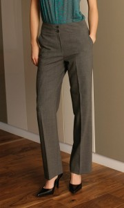 Prestige Diffusion - Pantalon Droit Femme - Coloris Gris Clair