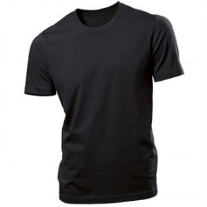 Prestige Diffusion - Tee-Shirt Manches Courtes Coton Bio 170g - Noir
