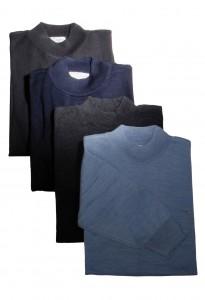 Prestige Diffusion - Pull Col Cheminée - Noir, Marine, Anthracite, Bleu Ciel